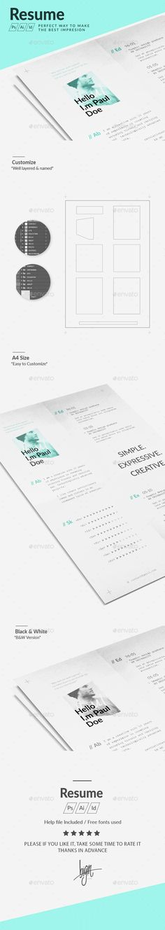 Trio Set 10 Resume cv, Resume cover letters and Fonts - how to set a resume