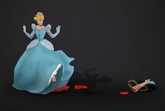 In Ads, Cinderella, Snow White Get Twisted Gory Endings
