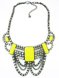 Givenchy neon Necklace- bling out! Neon Jewelry, Rhinestone Necklace, Crystal Necklace, Jewelry Box, Jewelery, Jewelry Accessories, Fashion Accessories, Jewelry Design, Bracelets