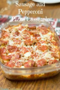Pizza Casserole Recipe – oven AND crock pot version