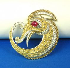 dragon brooch- Trifari
