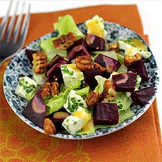 Roasted Beet Salad with Feta and Candied Pecans