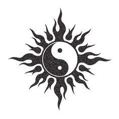 marquesan tattoos art - Tattoo Thinks Ying Y Yang, Yin Yang Art, Cute Tattoos, Body Art Tattoos, Foto Logo, Kritzelei Tattoo, Yin Yang Tattoos, Dragon Yin Yang Tattoo, Cool Symbols