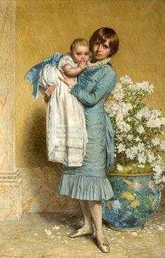 Henry Hetherington Emmerson (1831 – 1895, English) Our Baby, Find Art, Framed Artwork, Giclee Print