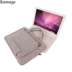 82bdac3d055 US $11.98 20% OFF|Laptoptas 11.6 13.3 14 15.6 17 inch Laptop Sleeve Pouch  Beschermhoes voor Macbook Air 13 Pro 13 15 Notebook Aktetas Handlebag in  Laptoptas ...