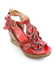 22016ab3dd5d Clarks Red Reid Timber Leather Sandal