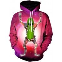 RICK AND MORTY PICKLE MONSTER - 3D STREET WEAR HOODIE - by www.wesellanything.co Cotton Pictures, Rick And Morty, Pickles, Red And Blue, Street Wear, 3d, Hoodies, How To Wear, Shirts