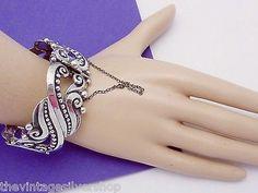 Vintage Margot de Taxco Mexican Sterling Silver Ornate Bangle Bracelet 19824 (08/13/2014)