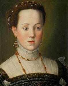 Giuseppe Arcimboldo, la archiduquesa Ana de Austria (1549-1580), más tarde reina de España, a los 6 años, c.1563.  Ver un retrato de Anna adulto aquí.
