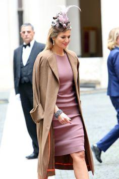 Queen Máxima wearing Bottega Veneta while visiting Italy
