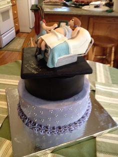 Ultrasound tech graduation cake