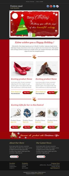 Festive Mail u2014 Christmas Holiday Newsletter Template for Sale at - holiday newsletter template