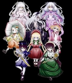Rozen Maiden, need to read. Author is Peach Pit.