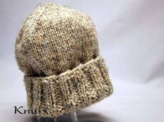 Wool Manly Outdoorsman Hat Handknit Wool Hat for Men or Women Handknit Thick Hat Man Hat Winter Hat Mens Hat Stocking Hat Skiing Wool Hat by Knitrx on Etsy