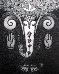 Ganesha Drawing, Ganesha Painting, Ganesha Art, Madhubani Art, Madhubani Painting, Drawing Sketches, Drawings, Sketching, Mythology Paintings