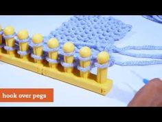 Zippy Loom - Garter Stitch - YouTube