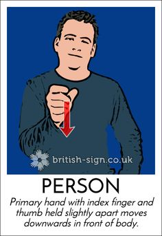 Today's #BritishSignLanguage sign is: PERSON #HumanRightsDay