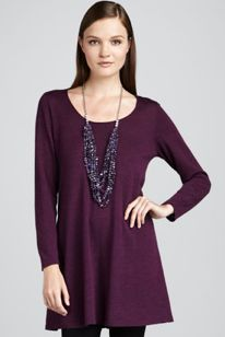 Eileen Fisher Wool Tunic; love the colour