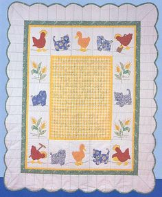 Little Red Hen baby quilt