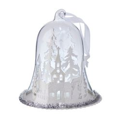 Light Up Snowy Street Scene Dome - Christmas Decoration