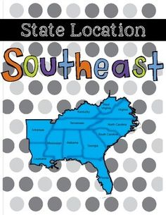 This product allows students to learn the location of each state in the Southeast region. There are three different ways your students can study and there is also an assessment. The download also includes an answer key for each study guide and assessment.