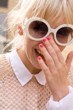 Óculos de sol aramção branca