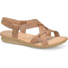 4b11a194c32f Born Rainey Sling Sandals ( 66) ❤ liked on Polyvore Flat Sandals