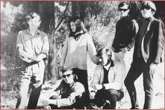Very early Jefferson Airplane: Standing from left; Jorma Kaukonen, Signe Anderson, Marty Balin, Paul Kantner. Seated, Jerry Peloquin and Bob Harvey