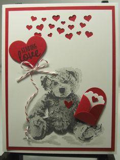 Sending Love Valentine with Baby Bear
