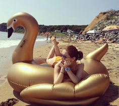 golden swan style Inflatable Floating Row Beach seat swimming rings with electric air pump pump Swimming Diving, Pool Floats, Water Toys, Indoor Outdoor, Outdoor Decor, Pool Houses, Seaside, The Row