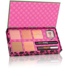 Benefit REAL cheeky party Christmas gift set ($40) ❤ liked on Polyvore featuring beauty products and makeup