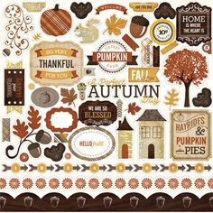 With the Echo Park Reflections Collection Fall 12 x 12 Cardstock Stickers Elements you can create a wonderful Autumn or Thanksgiving themed layout! Scrapbook Stickers, Scrapbook Paper, Large Scrapbook, Printable Stickers, Planner Stickers, Echo Park Paper, Wedding Scrapbook, Creative Memories, All Paper