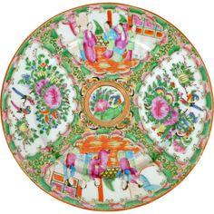 Chinese porcelain Rose Medallion dinner plate 19th century