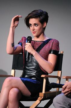 Kristen Stewart Rocks Edgy Black Leather Overall Dress By Chanel ...