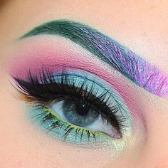 Pastel Dreams by @beccaboo318 featuring our popular #iconiclashes  Brows: green from @bhcosmetics eyes on the 60s palette @benefitcosmetics beyond green they're real push up liner @katvondbeauty Armageddon everlasting liquid lipstick and some @nyxcosmetics white liquid liner  Shadows: @maccosmetics crystal avalanche pink from @bhcosmetics eyes on the 60s palette @nyxcosmetics wild orchid mac deep damson @sheamoisture4u taylor @sallygirlbeauty blue marine & aqua(lower lashline) @thebodyneeds…