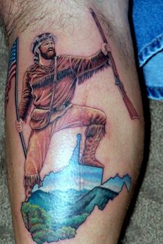 West Virginia tattoo idea without the mountaineer.