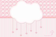 "Kit artes digitais festa de aniversário ""Chuva de Bençãos"" cor de rosa...festa para meninas Cloud Party, Free Printable Cards, Cake Logo, Party Invitations, New Baby Products, Decoupage, Decoration, Alice, Banner"
