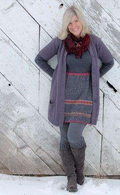 2 Sweaters = 1 dress