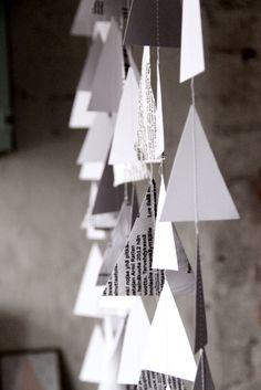 paper tree garlands. KOTIPALAPELI Paper Tree, Garlands, Blog, Christmas, Diy, Home Decor, Wreaths, Xmas, Decoration Home
