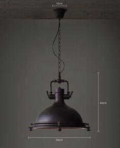 Matte Black loft industrial vintage pendant light warehouse decor LP0026