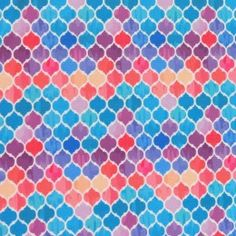 Small Colorful Medallions Nylon Spandex Swimsuit Fabric