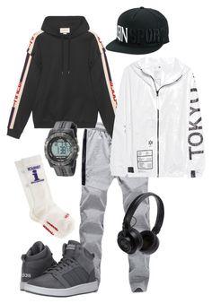 Sport by polystar-556 on Polyvore featuring Gucci, UEG, Vetements, adidas, Timex, Plein Sport, Master & Dynamic, men's fashion and menswear