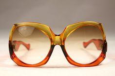 Vintage 70s Sunglasses Yves Saint Laurent by VintageCarwen on Etsy