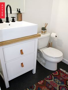 Before & After: An Office Bathroom Gets A Bright Update