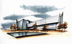 Architectural marker sketch by ariel brindis