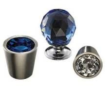 Knob appeal-Bring a touch of bling to cabinetry with the Crystal Collection of hardware from Top Knobs. Four sizes and eight colors, including Amber, Wine and Light Blue, are available.