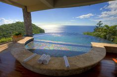 jade mountain st. lucia infinity pool in every room