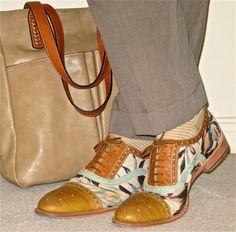 Corneliani cotton suit, Fluevog leather & canvas oxford brogues… #Corneliani…