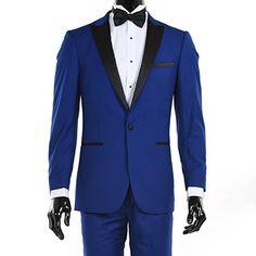 Custom suit Made Hot Sale Royal Blue Suits Black Lapel Men Slim Fit Wedding Groom Suits 2 Piece (Jacket + Pants). Yesterday's price: US $99.00 (85.45 EUR). Today's price: US $91.08 (78.64 EUR). Discount: 8%.