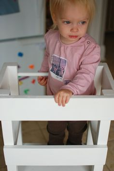 "Materials: BEKVA""M step stool Description: Like most toddlers, our Lucy was a curious little one… I wanted her to be able to look, help and play at our kitchen's counter height but didn't feel safe letting her stand on a chair… Besides, she was so short she couldn't even climb up on to the chair [&hellip"